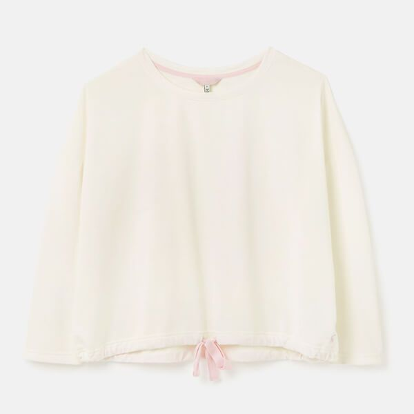 Joules Cream Harlee Dropped Shoulder Jersey Top Size S