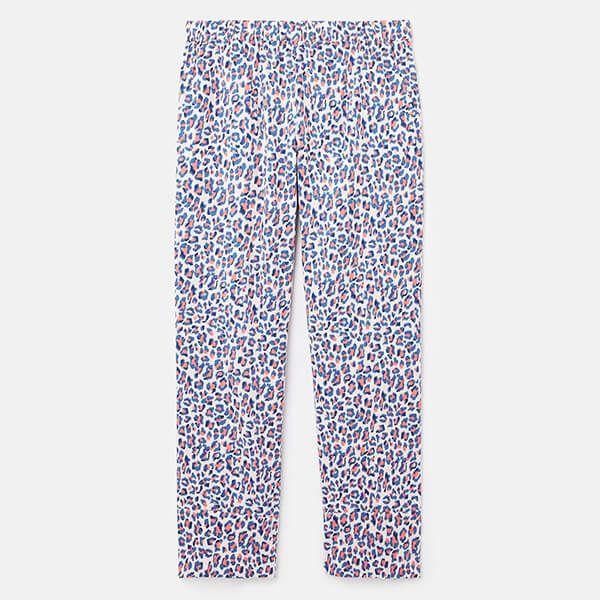 Joules Lilac Leopard Slumber Cotton Pyjama Bottoms Size M