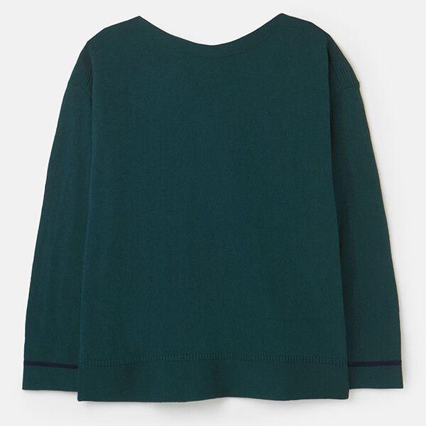 Joules Dark Green Vivianna Slash Neck Jumper Size 16
