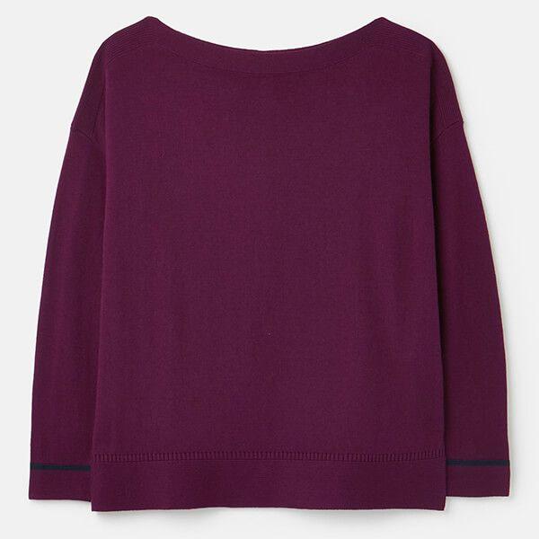 Joules Purple Vivianna Slash Neck Jumper Size 12