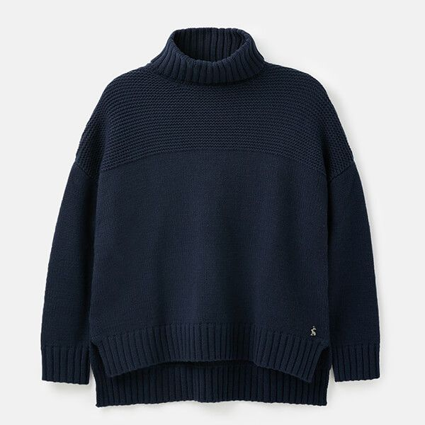 Joules French Navy Anwen Roll Neck Jumper Size 16