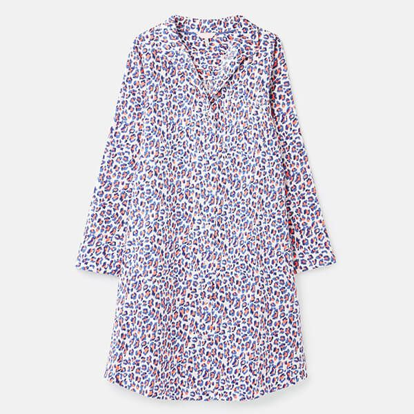 Joules Lilac Leopard Verity Woven Nightshirt