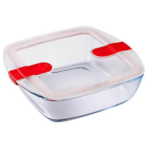 Pyrex Cook & Heat 2.2 Litre Square Dish With Lid