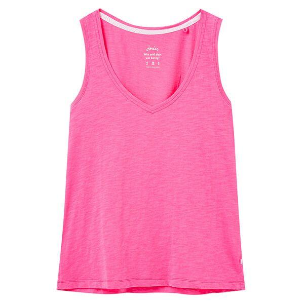 Joules Bright Pink Maya V Neck Jersey Vest