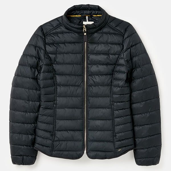 Joules Navy Canterbury Short Luxe Padded Jacket Size 24