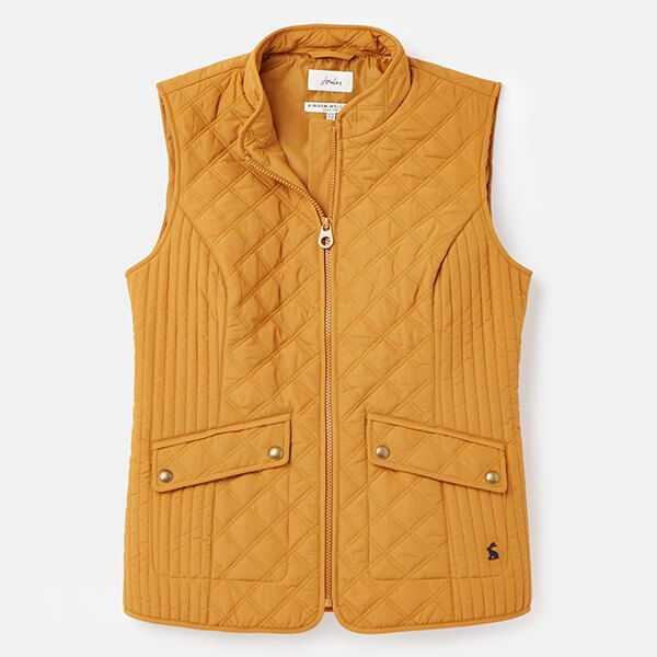 Joules Golden Minx Quilted Gilet Size 14