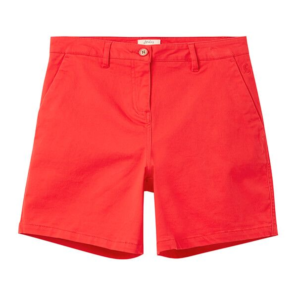 Joules Red Cruise Mid Thigh Length Chino Shorts