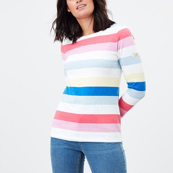 Joules Multi Stripe Harbour Long Sleeve Jersey Top
