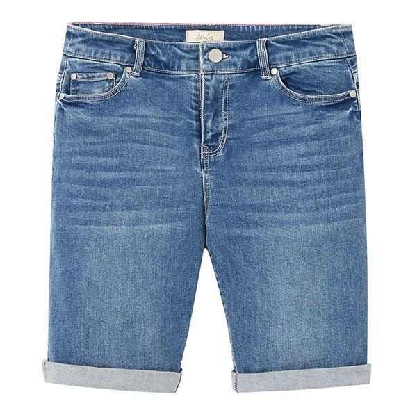 Joules Light Denim Shirley Long Denim Shorts