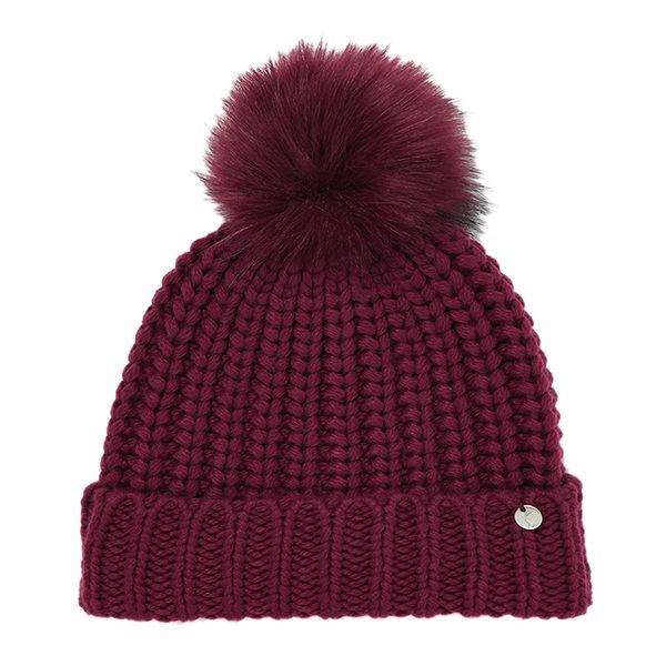 Joules Plum Triana Recycled Knitted Hat