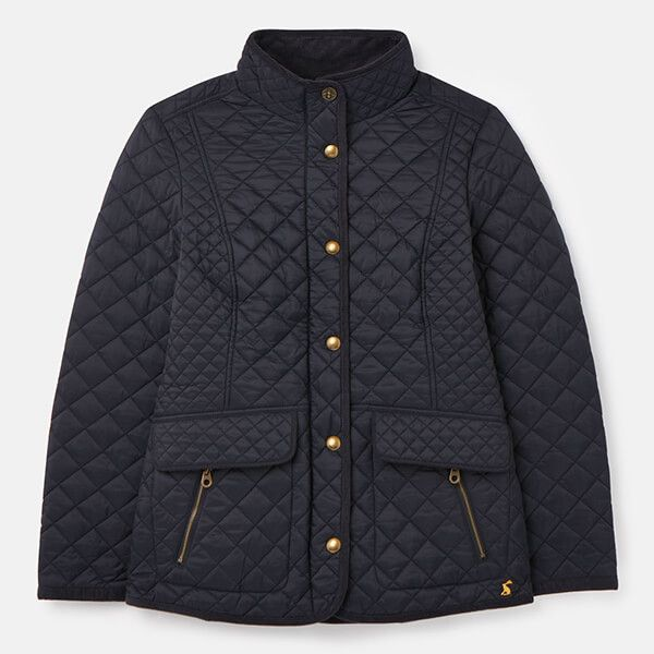 Joules Marine Navy Newdale Quilted Coat Size 14
