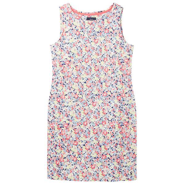 Joules Navy Ditsy Riva Sleeveless Jersey Dress