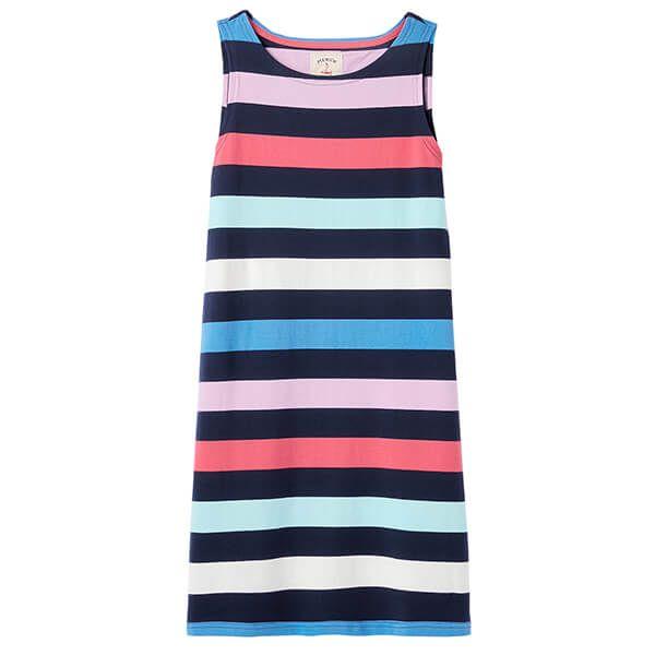 Joules Multi Stripe Riva Sleeveless Jersey Dress