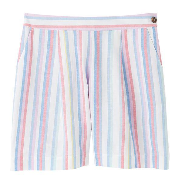 Joules Multi Stripe Coretta Printed Shorts