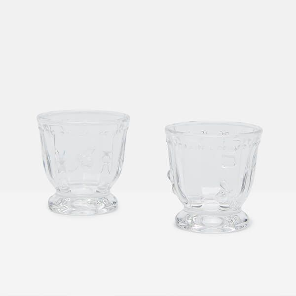 Joules Bees Glass Egg Cups Set Of 2