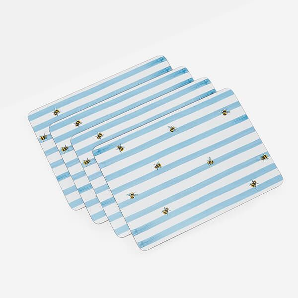 Joules Bee Stripe Placemats Set Of 4