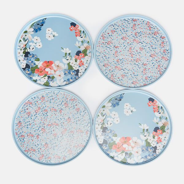 Joules Melamine Outdoor Dining Dinner Plates Set Of 4