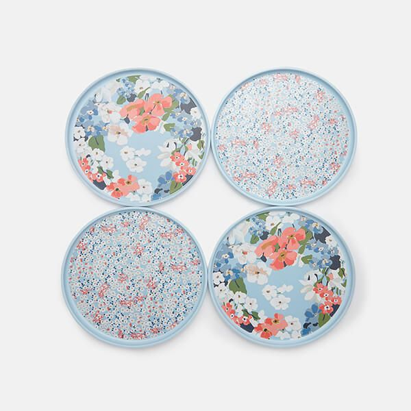 Joules Melamine Outdoor Dining Side Plates Set Of 4