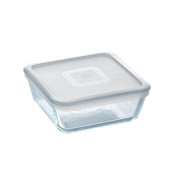 Pyrex Cook & Freeze 0.85L Square Dish with Lid