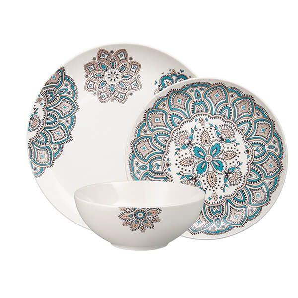 Denby Monsoon Mandala 12 Piece Tableware Set