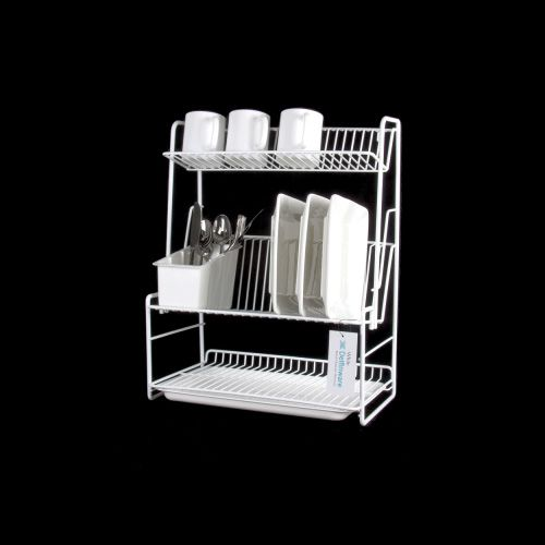 Delfinware Wireware White 3 Tier Plate Rack