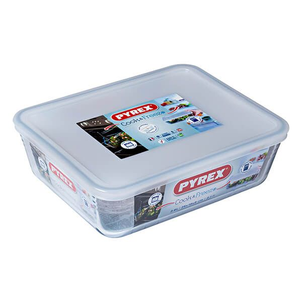 Pyrex Cook & Freeze 25cm Rectangular Dish With Lid