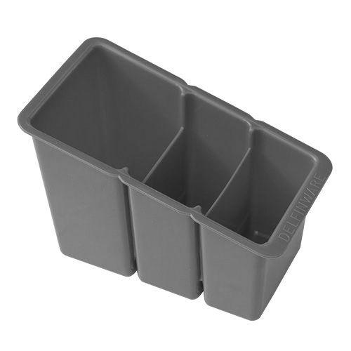 Delfinware Grey Plastic Cutlery Basket