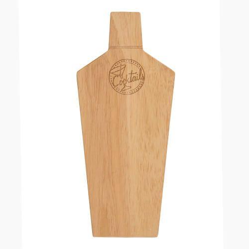 T&G Hevea Cocktail Shaker Bottle Bar Prep Board
