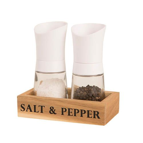 T&G Manhattan White Mill Gift Set With Wooden Crate