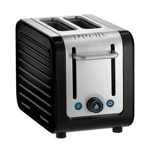Dualit Architect 2 Slot Black Body With Gloss Black Panel Toaster