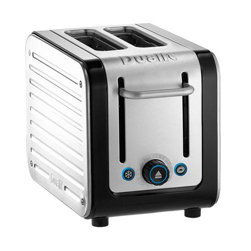 Dualit Architect 2 Slot Black Body With White Panel Toaster