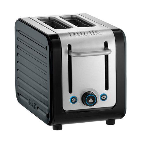 Dualit Architect 2 Slot Black Body With Metallic Charcoal Panel Toaster