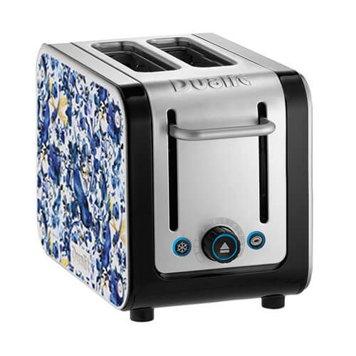Dualit Architect 2 Slot Black Body With Miles Biophillia Panel Toaster