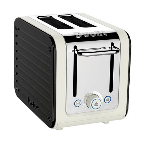 Dualit Architect 2 Slot Canvas Body With Gloss Black Panel Toaster