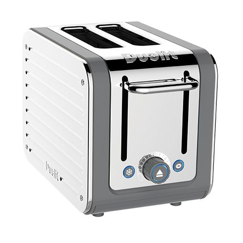 Dualit Architect 2 Slot Grey Body With White Panel Toaster
