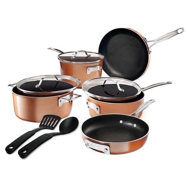 Gotham Steel Stackmaster 10 Piece Cookware Set