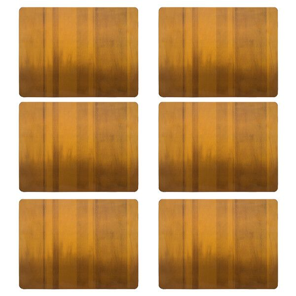 Denby Colours Set Of 6 Mustard Placemats