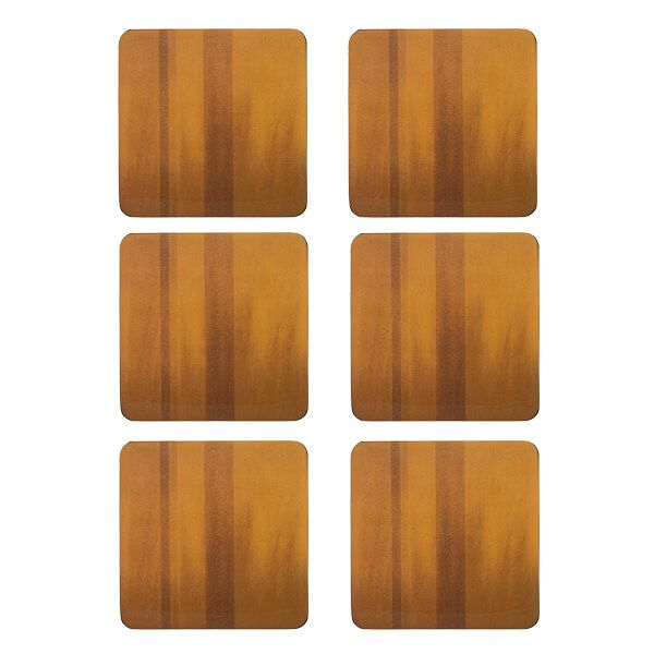 Denby Colours Set Of 6 Mustard Coasters