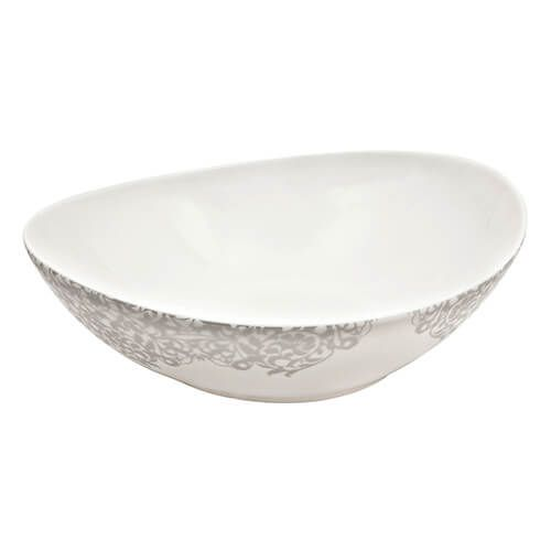 Denby Monsoon Filigree Silver Serving Bowl