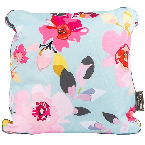 Navigate Gardenia Double Sided Cushion Sky Blue Floral