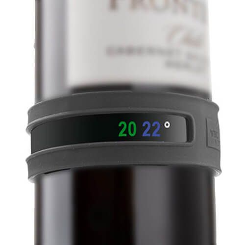 Vacu Vin Snap Thermometer Dark Grey