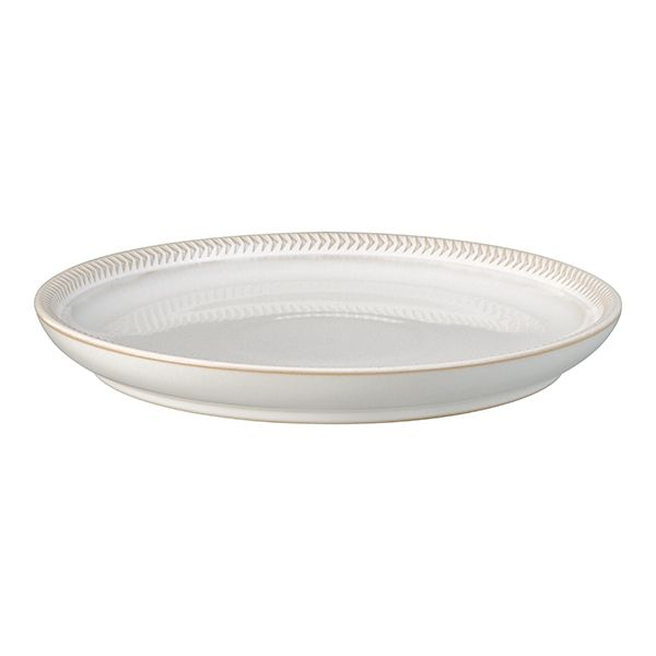 Denby Natural Canvas Textured Medium Coupe Plate