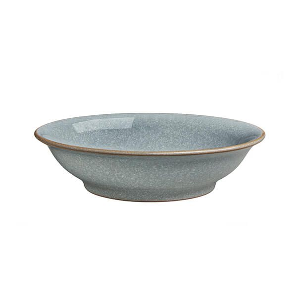 Denby Elements Light Grey Medium Shallow Bowl