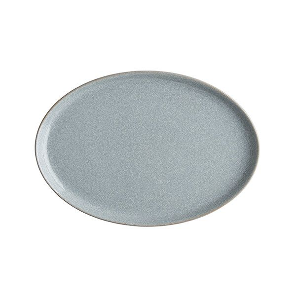 Denby Elements Light Grey Medium Oval Tray
