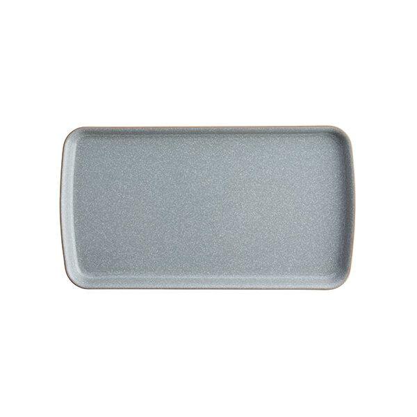 Denby Elements Light Grey Small Rectangular Platter
