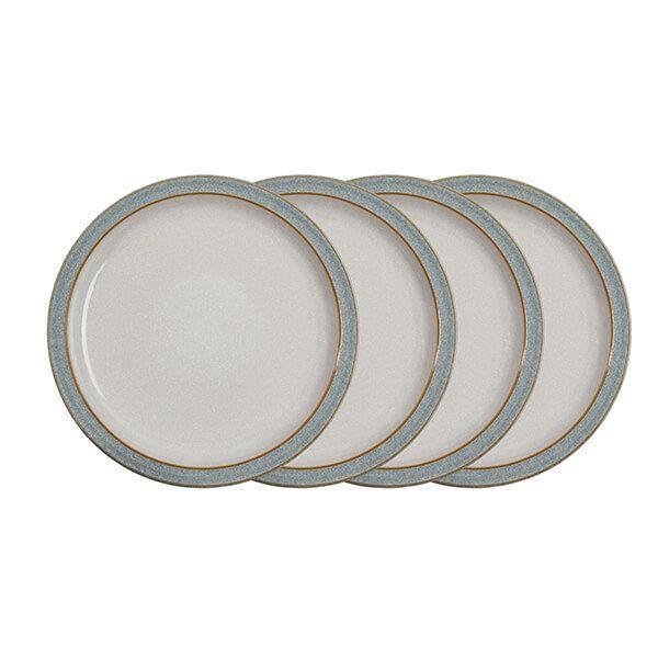 Denby Elements Light Grey Set Of 4 Dinner Plates