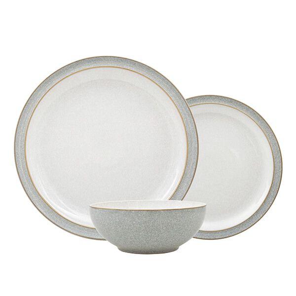 Denby Elements Light Grey 12 Piece Tableware Set 380041981