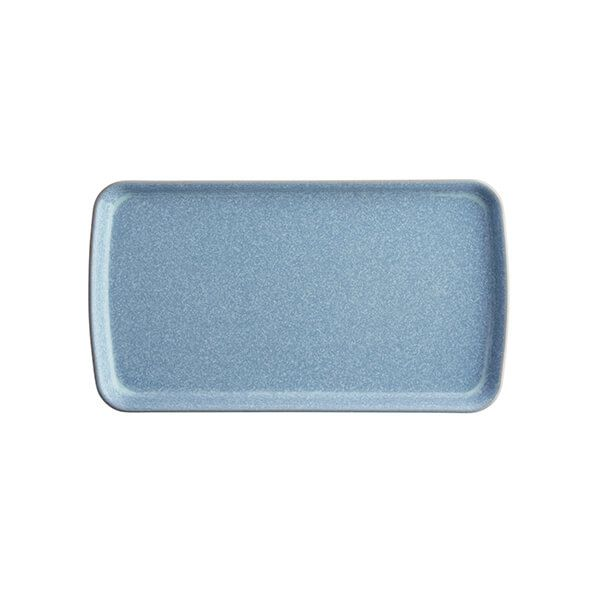 Denby Elements Blue Small Rectangular Platter