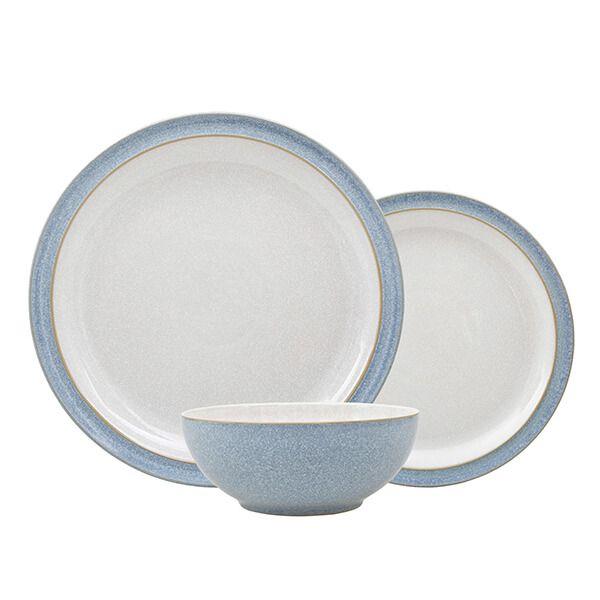 Denby Elements Blue 12 Piece Tableware Set