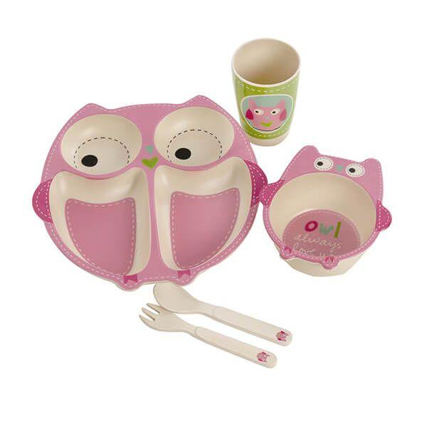 Epicurean Owl Bamboo Kids 5 Piece Set